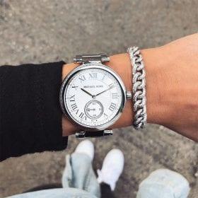 סט שעון יד מייקל קורס MICHAEL KORS MK5866 וצמיד חוליות מכסף משובץ